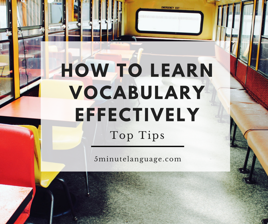 Four steps to learning vocabulary effectively - TestMagic